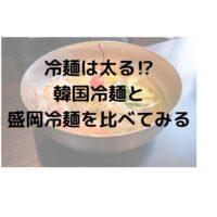 冷麺は太る⁉炭水化物だから消化・吸収されやすい⁉盛岡冷麺と韓国冷麵を比較