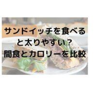 サンドイッチを食べていると太る?朝食や夜食のおにぎり・おやつと比較